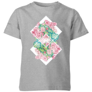 Barlena Flowers Kids' T-Shirt - Grey