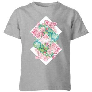 Barlena Flowers Kids' T-Shirt - Grey