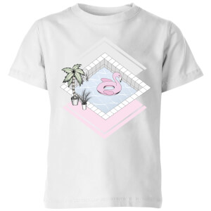 Barlena Flamingos Paradise Kids' T-Shirt - White