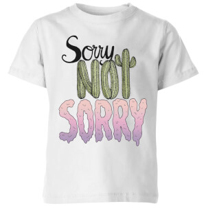 Barlena Sorry Not Sorry Kids' T-Shirt - White