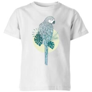 Barlena Parrot Kids' T-Shirt - White