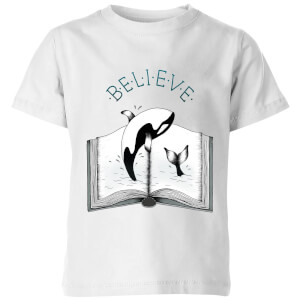 Believe Kids' T-Shirt - White