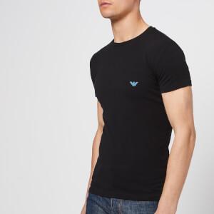 Emporio Armani Men's Chest Eagle T-Shirt - Black