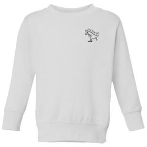 Too Rad To Be Sad Kids' Sweatshirt - White