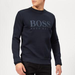 BOSS Men's Weave Sweatshirt - Navy