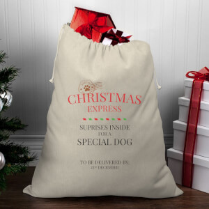 Christmas Express for A Special Dog Christmas Santa Sack