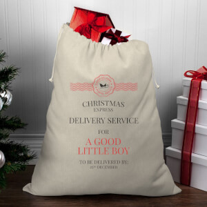 Christmas Delivery Service for A Good Little Boy Christmas Santa Sack