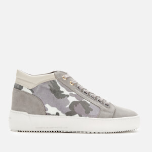 Android Homme Men's Propulsion Mid Geo Camo Velvet Trainers - Snow Camo/Light Grey