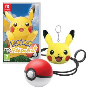 Pokemon: Let's Go, Pikachu! + Poké Ball Plus + Pikachu Keychain