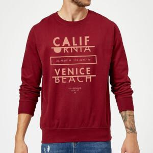 Venice Beach Sweatshirt - Burgundy