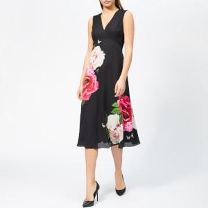 Ted Baker Women's Ulna Magnificent Print Midi Dress - Black