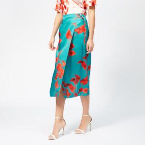Ted Baker Women's Lilyyy Fantasia Split Hem Midi Skirt - Turquoise