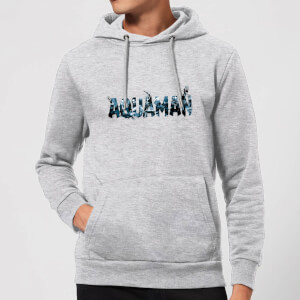 Aquaman Chest Logo Hoodie - Grey