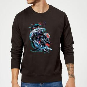 Aquaman Black Manta & Ocean Master trui - Zwart