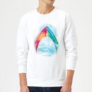 Aquaman Mera Beach Symbol Sweatshirt - White