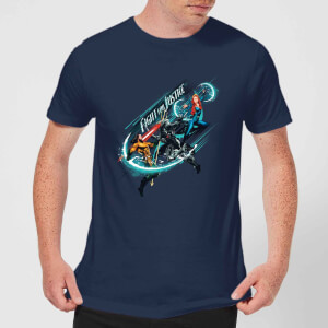 Aquaman Fight for Justice Men's T-Shirt - Navy