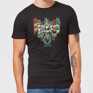 Camiseta DC Comics Aquaman Unite The Kingdoms - Hombre - Negro