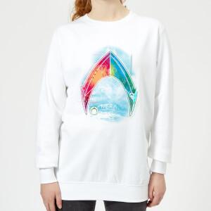 Aquaman Mera Beach Symbol Women's Sweatshirt - White