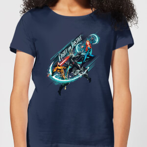 Aquaman Fight for Justice Women's T-Shirt - Navy