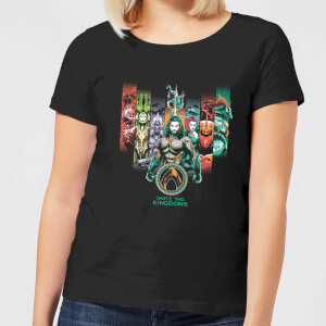 Camiseta DC Comics Aquaman Unite The Kingdoms - Mujer - Negro