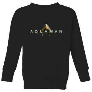 Aquaman Title Kinder Sweatshirt - Schwarz