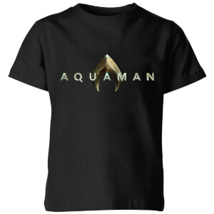 Aquaman Title Kids' T-Shirt - Black