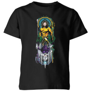 Aquaman And Ocean Master Kinder T-Shirt - Schwarz