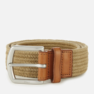 Polo Ralph Lauren Men's Braided Fabric Stretch Belt - Timber Brown