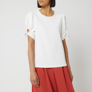 See By Chloé Women's Tie Sleeve Blouse - White