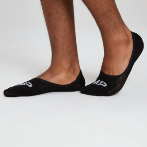 Essentials Men's Invisible Socks - Black (3 Pack)