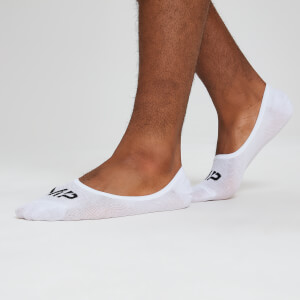 Essentials Men's Invisible Socks - White (3 Pack)