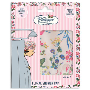 The Vintage Cosmetic Company Shower Cap czepek pod prysznic – Pink Floral Satin