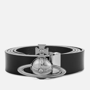 Vivienne Westwood Men's Orb Buckle Belt - Black