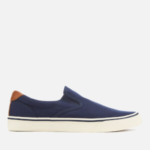 Polo Ralph Lauren Men's Thompson Canvas Vulcanised Slip-On Trainers - Newport Navy
