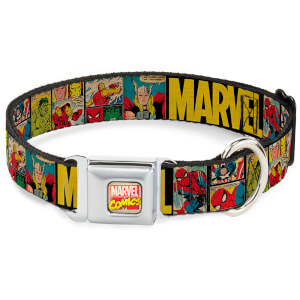 Buckle-Down Marvel Comics Dog Collar (Various Sizes)