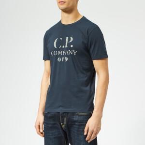 C.P. Company Men's Large Chest Logo T-Shirt - Total Eclipse