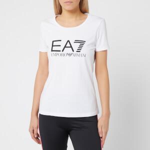 Emporio Armani EA7 Women's Train Logo Series Short Sleeve T-Shirt - White