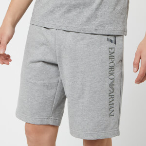 Emporio Armani EA7 Men's Train Logo Series Extended Logo Bermuda Shorts - Medium Grey Melange