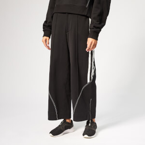 Y-3 Women's 3/4 Stripe Wide Leg Pants - Black