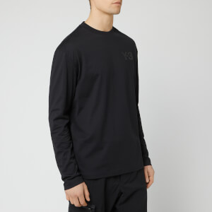 Y-3 Men's Logo Long Sleeve T-Shirt - Black