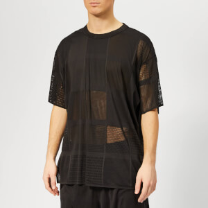 Y-3 Men's Patchwork Mesh Short Sleeve T-Shirt - Black