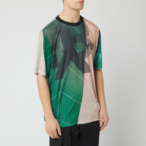 Y-3 Men's All Over Print Football Shirt - Sail Salty Champagne