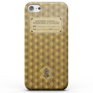 Cover telefono Harry Potter Tassorosso Text Book per iPhone e Android