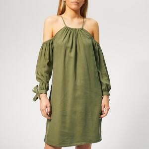 Superdry Women's Eden Cold Shoulder Dress - Khaki