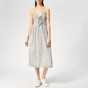 Superdry Women's Jayde Tie Front Midi Dress - Stripe