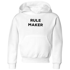 Rule Maker Kids' Hoodie - White