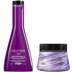 L'Oréal Professionnel Pro Fiber Reconstruct Very Damaged Hair Shampoo and Treatment Duo szampon i kuracja do włosów