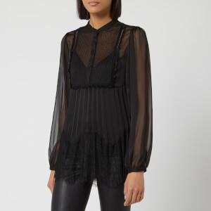 McQ Alexander McQueen Women's Overlay Pleat Blouse - Black