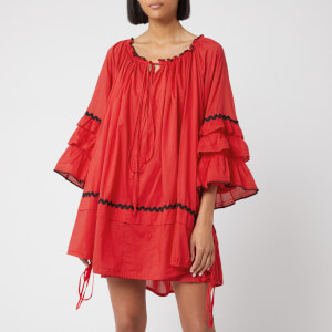McQ Alexander McQueen Women's Romantic Button Up Dress - Red