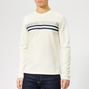 Woolrich Men's Logo Stripe T-Shirt - Chalk